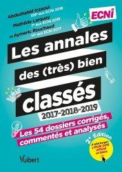 Dernières parutions sur ECN iECN DFASM DCEM, Les annales des (très) bien classés 2016-2017-2018-2019