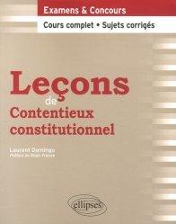 Dernières parutions dans Leçons de droit, Leçons de contentieux constitutionnel
