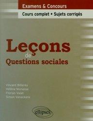 Dernières parutions dans Leçons de droit, Leçons de questions sociales