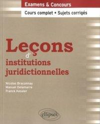 Dernières parutions dans Leçons de droit, Leçons d'institutions juridictionnelles
