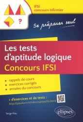 Dernières parutions sur Tests d'aptitude, Les tests d'aptitude logique Concours IFSI