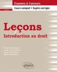 Dernières parutions sur Introduction au droit civil, Leçons d'introduction au droit. 2e édition