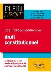 Dernières parutions dans Plein droit, Les indispensables du droit constitutionnel