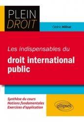 Dernières parutions dans Plein droit, Les indispensables du droit international public