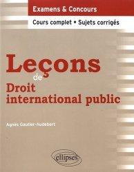 Dernières parutions dans Leçons de droit, Leçons de droit international public