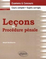 Dernières parutions dans Leçons de droit, Leçons de procédure pénale. 3e édition
