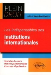 Dernières parutions dans Plein droit, Les indispensables du Droit des institutions internationales