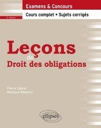 Nouvelle édition Leçons de droit des obligations. 2e édition