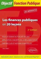 Dernières parutions dans Objectif Fonction Publique, Les finances publiques en 20 leçons. 2e édition