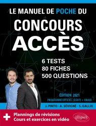 Dernières parutions dans Les manuels de référence, Le Manuel de POCHE du concours ACCES (écrits + oraux) Edition 2021 - 80 fiches, 80 vidéos de cours, 6 tests, 500 questions + corrigés en vidéo