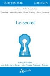 Dernières parutions sur Histoire des idées politiques, Le secret