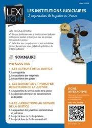 Dernières parutions dans Lexifiche, Les institutions judiciaires