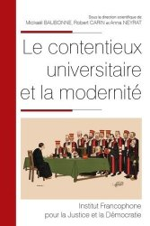 Dernières parutions dans Colloques & Essais, Le contentieux universitaire et la modernité