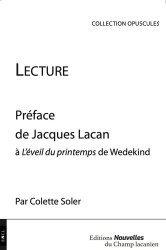 Dernières parutions sur Lacan, Lecture