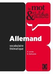 Souvent acheté avec Conjugaison Allemande, le Le Mot et l'idée - Allemand