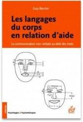 Dernières parutions sur Thérapies comportementales et cognitives, Les langages du corps en relation d'aide