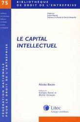 Dernières parutions dans Bibliothèque de droit de l'entreprise, Le capital intellectuel