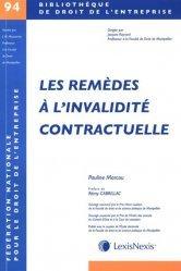 Dernières parutions sur Contrat de travail, Les remèdes contre l'invalidité contractuelle
