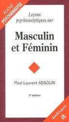 Dernières parutions dans Anthropos, Leçons psychanalytiques sur Masculin et Féminin