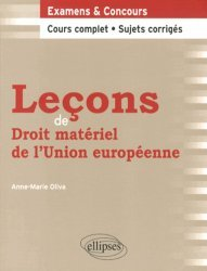 Dernières parutions dans Leçons de droit, Leçons de droit matériel de l'Union européenne