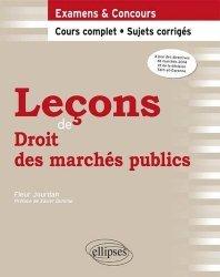 Dernières parutions dans Leçons de droit, Leçons de droit des marchés publics