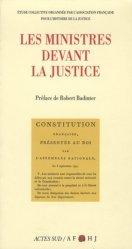 Dernières parutions dans Essais sciences, Les ministres devant la justice. Étude collective