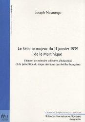 Dernières parutions dans Sciences Humaines et Sociales, Le Séisme majeur du 11 janvier 1839 de la Martinique
