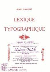 Dernières parutions dans Rediviva, Lexique typographique
