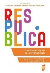 Dernières parutions dans Res Publica, Le tournant social de l'international
