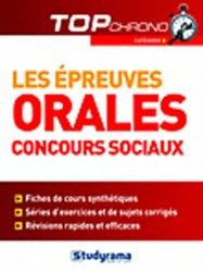 Dernières parutions dans Top chrono, Les épreuves orales - Concours sociaux