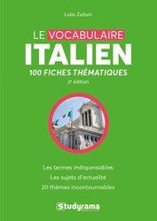 Dernières parutions dans Langues, Le Vocabulaire Italien