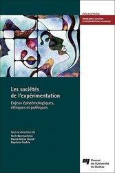 Dernières parutions sur Sociologie et philosophie médicale, Les sociétés de l'expérimentation