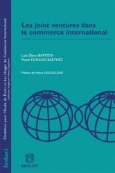 Dernières parutions dans Feduci, Les joint ventures dans le commerce international