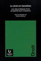 Dernières parutions sur Autres ouvrages de philosophie du droit, Le droit en transition