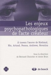 Dernières parutions dans Oxalis, Les enjeux psychopathologiques de l'acte créateur