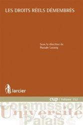 Dernières parutions dans Commission Université-Palais, Les droits réels démembrés