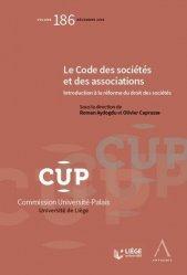 Dernières parutions dans Commission Université-Palais, Le code des sociétés et des associations. Introduction à la réforme du droit des sociétés