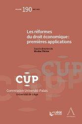 Dernières parutions sur Droit fiscal international, Les réformes du droit économique : premières applications