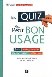 Dernières parutions sur Grammaire-Conjugaison-Orthographe, Les quiz du petit bon usage