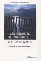 Dernières parutions sur Diagnostics - Prise en charge, Les annonces en cancérologie