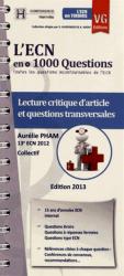 Souvent acheté avec Réflexes et astuces aux ECN, le Lecture critique article et questions transversales