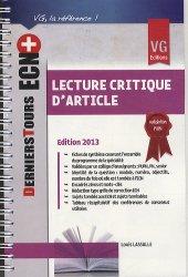 Souvent acheté avec Histoire de l'architecture, le Lecture critique d'article 2013
