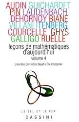 Dernières parutions dans Le sel et le fer, Leçons de mathématiques d'aujourd'hui Vol 4