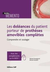 Dernières parutions sur Odontologie, Les doléances du patient porteur de prothèses amovibles complètes