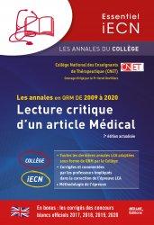Dernières parutions sur ECN iECN DFASM DCEM, Lecture Critique d'un Article Médical majbook ème édition, majbook 1ère édition, livre ecn major, livre ecn, fiche ecn