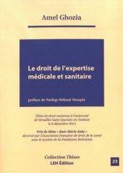 Dernières parutions sur Responsabilité médicale, Le droit de l'expertise médicale et sanitaire