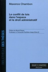 Dernières parutions dans Bibliothèque des thèses, Le conflit des lois dans l'espace et le droit administratif