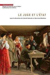 Dernières parutions dans Institut des sciences juridique et philosophique de la Sorbonne, Le juge et l'Etat https://fr.calameo.com/read/005884018512581343cc0