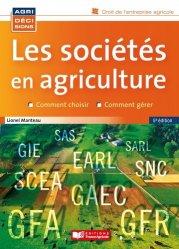 Dernières parutions sur Comptabilité - Législation, Les sociétés en agriculture