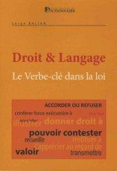 Dernières parutions sur Lexiques et dictionnaires, Le verbes-clés dans la loi